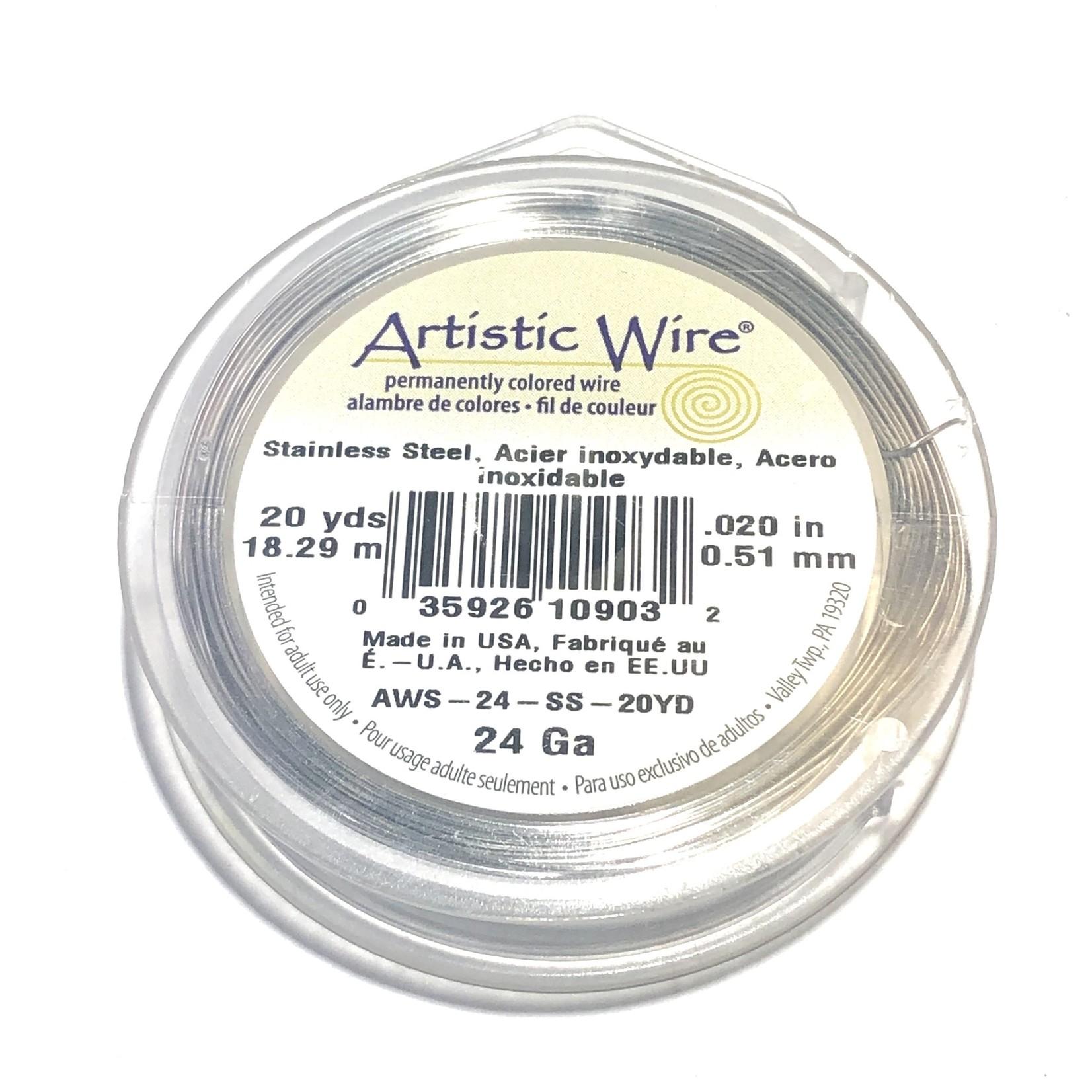 Artistic Wire Stainless Steel 24 Gauge 20 Yd