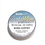 Bare Copper Wire - 28 Gauge Round 40 Yards
