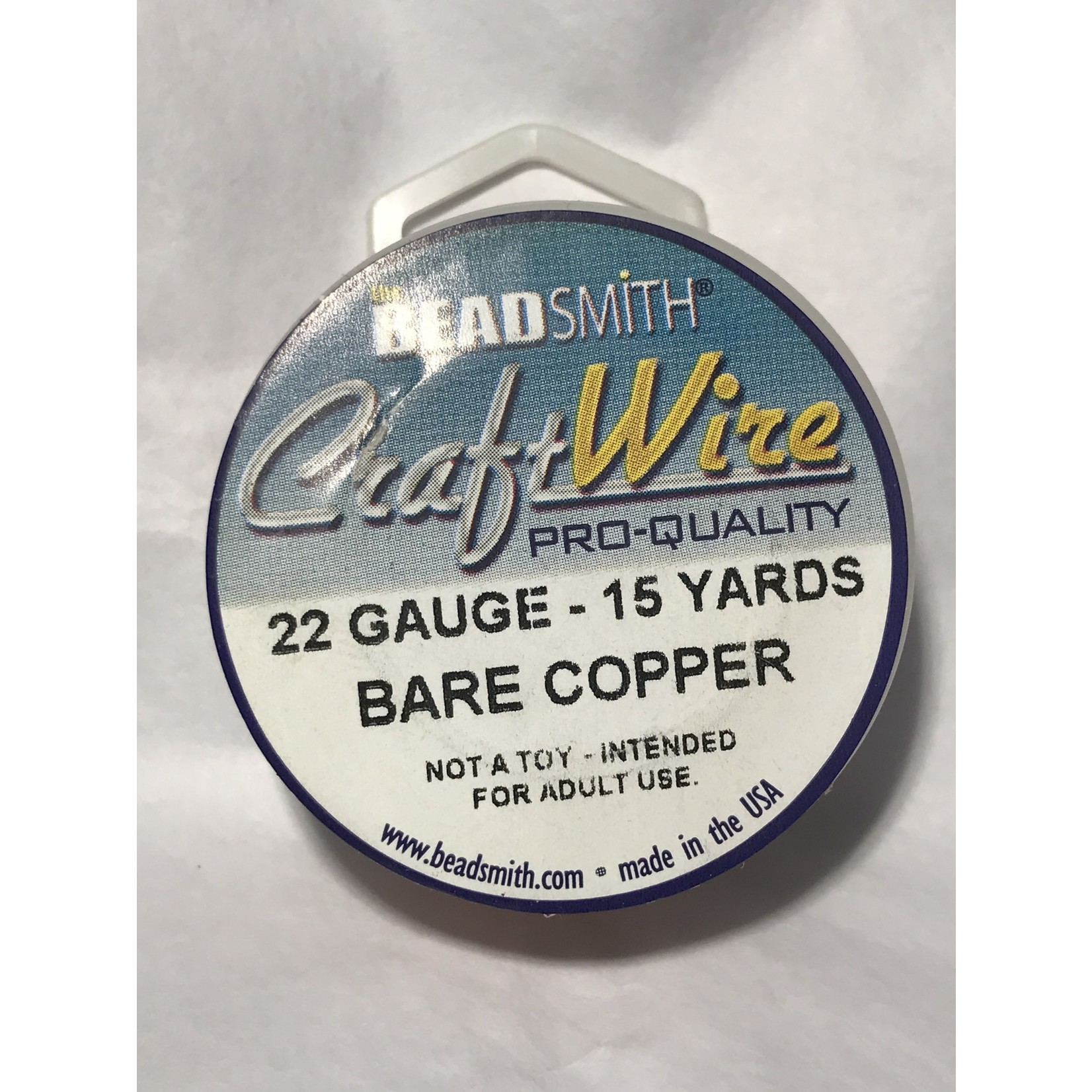 Bare Copper Wire - 22 Gauge Round 15 Yards