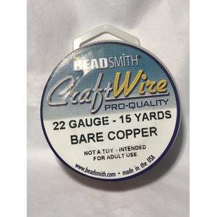 Bare Copper Wire - 22 Gauge Round 15 Yards