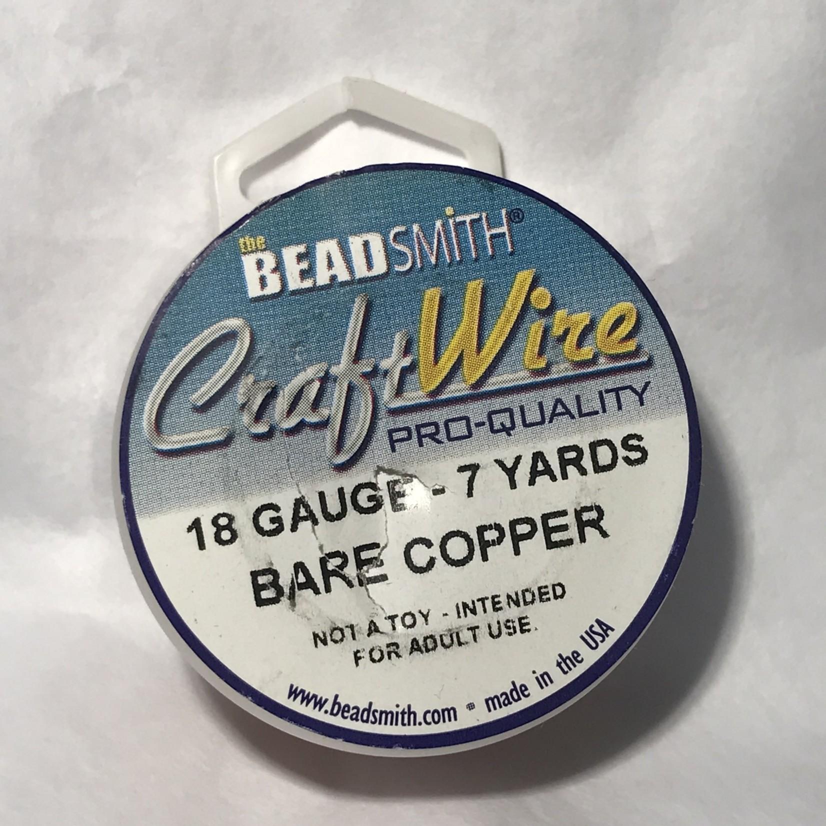 Bare Copper Wire - 18 Gauge Round 7 Yards