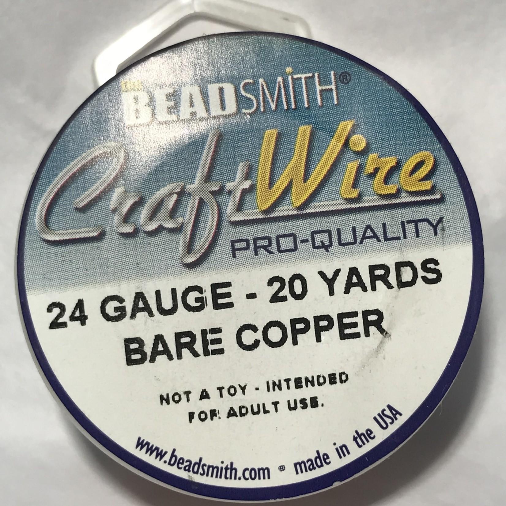 Bare Copper Wire - 24 Gauge Round 20 Yards