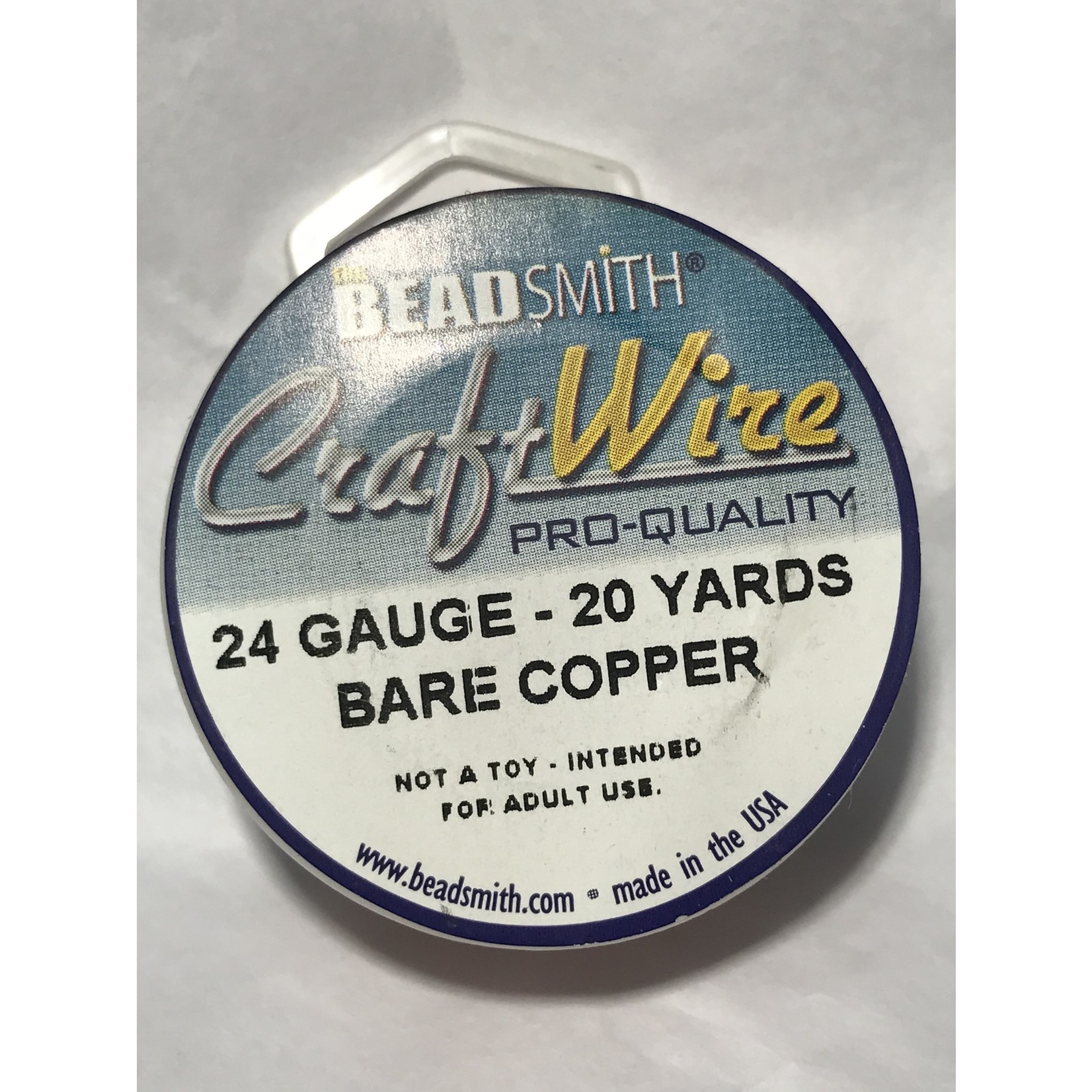 Bare Copper Wire - 24 Gauge Round 20 Yards