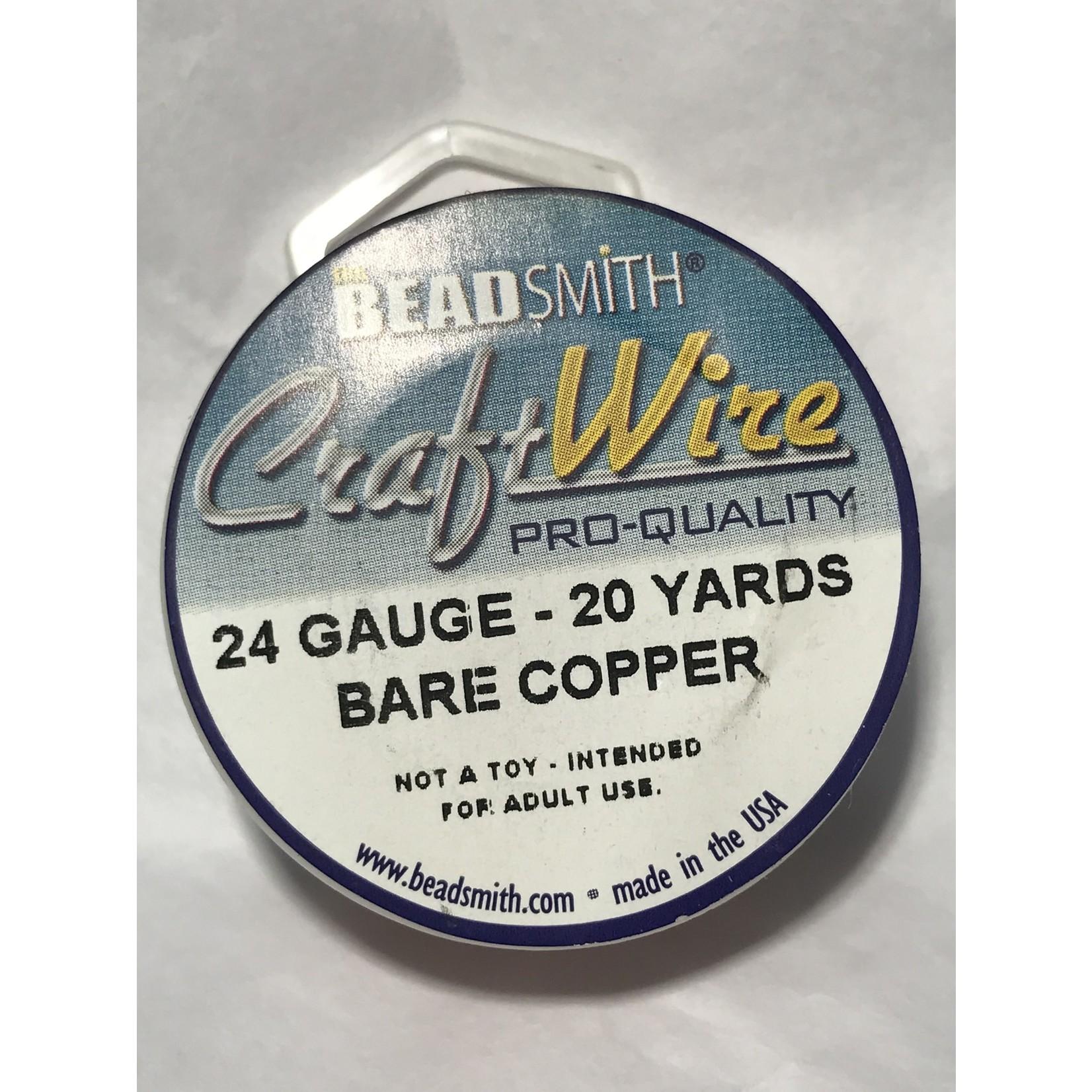 BeadSmith Bare Copper Wire - 24 Gauge Round 20 Yards