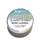 BeadSmith Bare Copper Wire - 26 Gauge Round 30 Yards