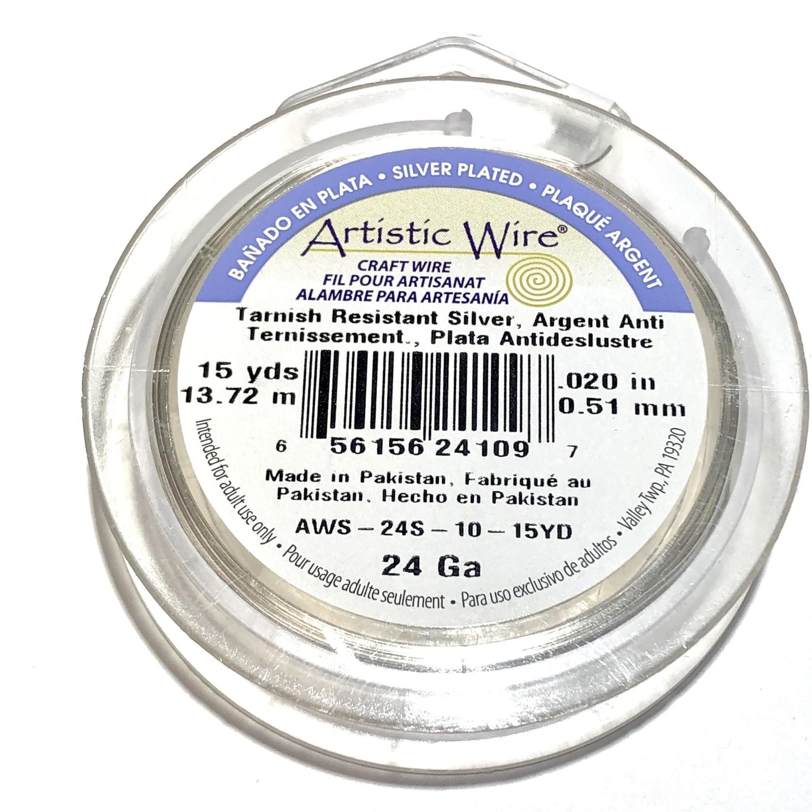 Artistic Wire Tarnish Resistant Silver 24Ga 15Yd