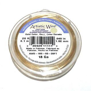 Artistic Wire Gold Colour 18Ga 20ft