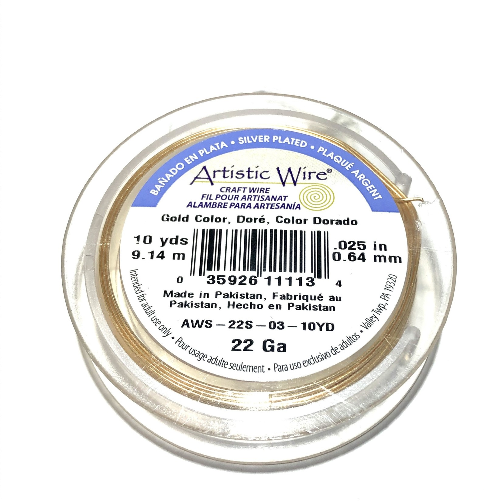 Artistic Wire Gold Colour 22Ga 10 Yd