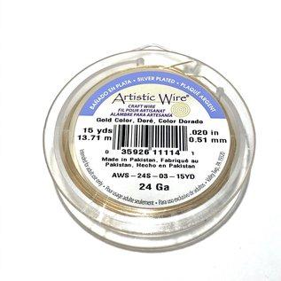 Artistic Wire Gold Colour 24Ga 15Yd