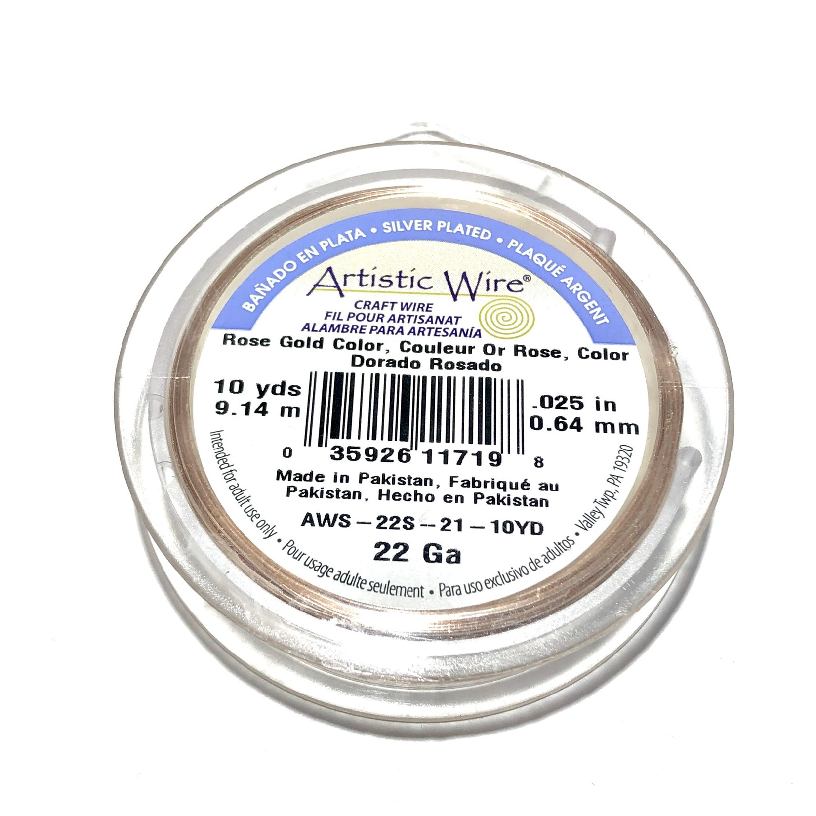 Artistic Wire Rose Gold Colour 22Ga 10Yd
