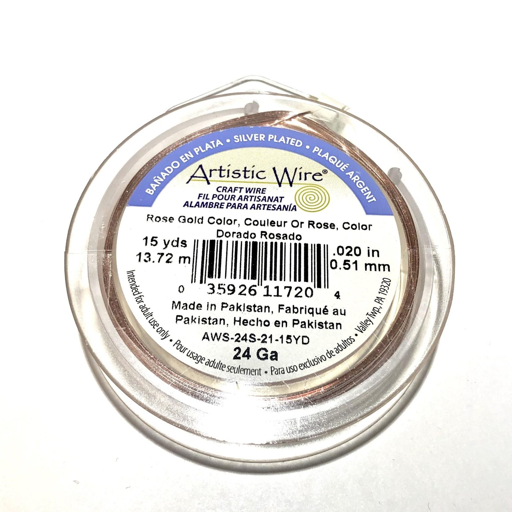 Artistic Wire Rose Gold Colour 24Ga 15Yd