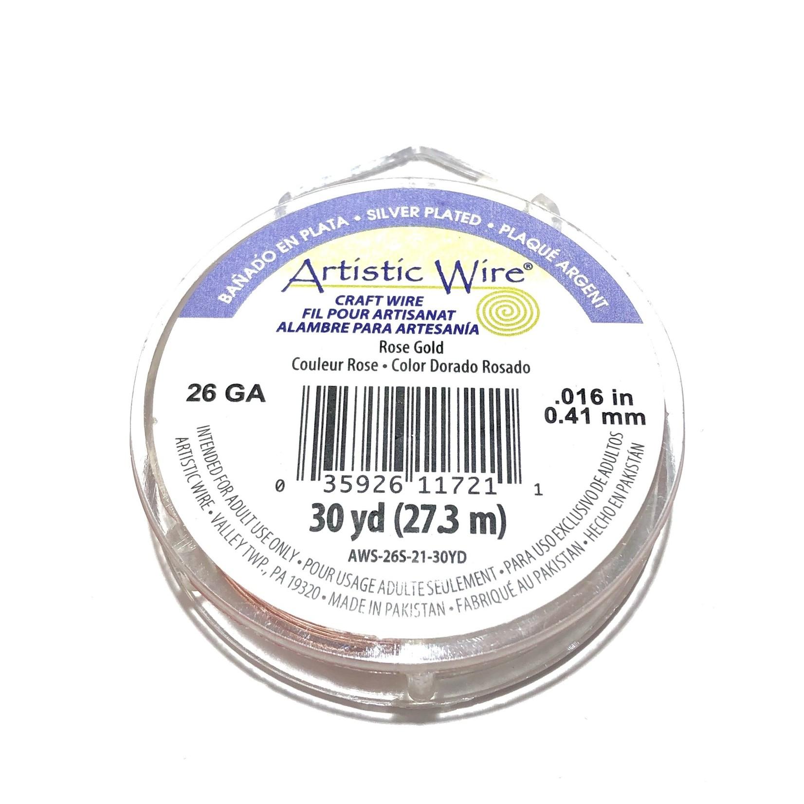 Artistic Wire Rose Gold Colour 26Ga 30Yd