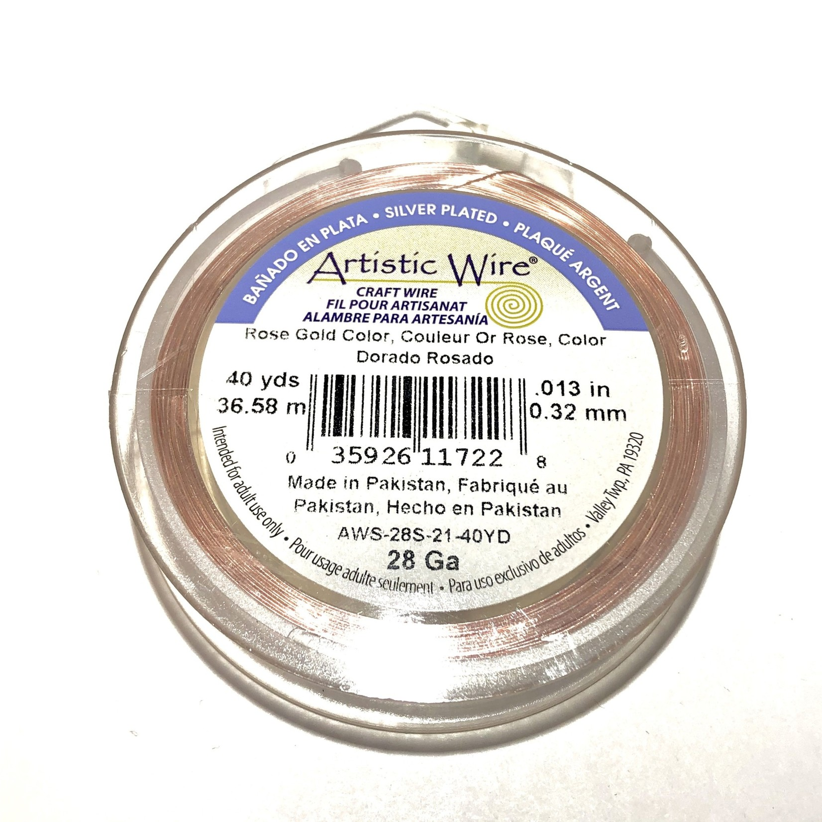 Artistic Wire Rose Gold Colour 28Ga 40Yd