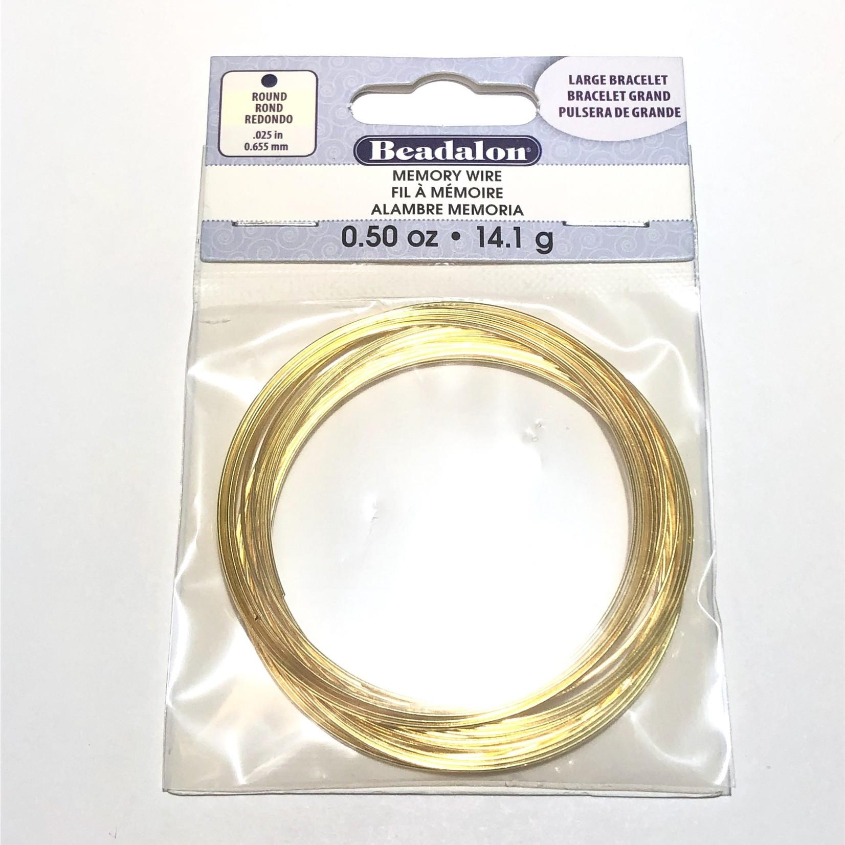 Beadalon BEADALON Memory Wire Lg Bracelet .5oz Gold
