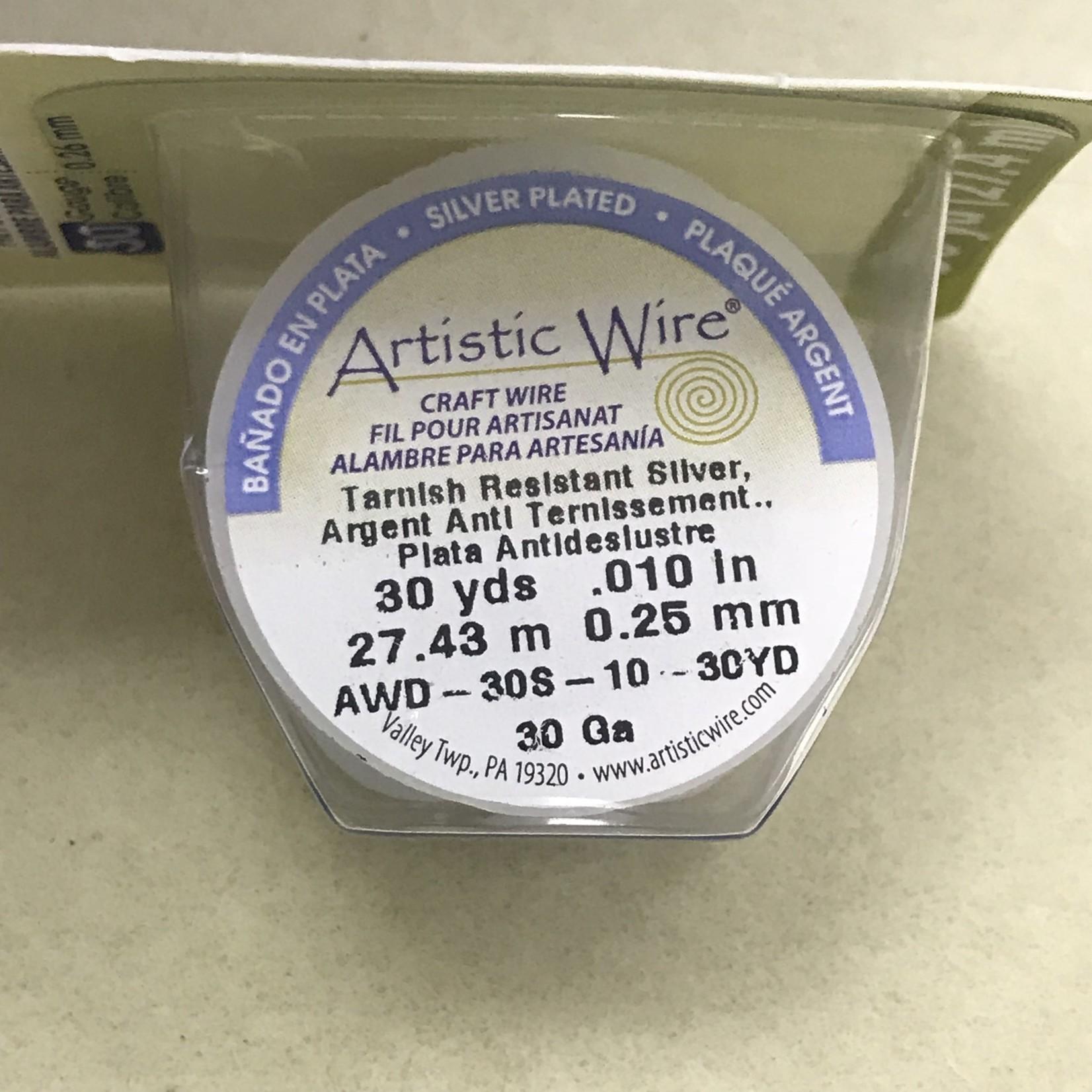 Copper Artistic Wire - Silver Colour - 30 Ga 30 Yd