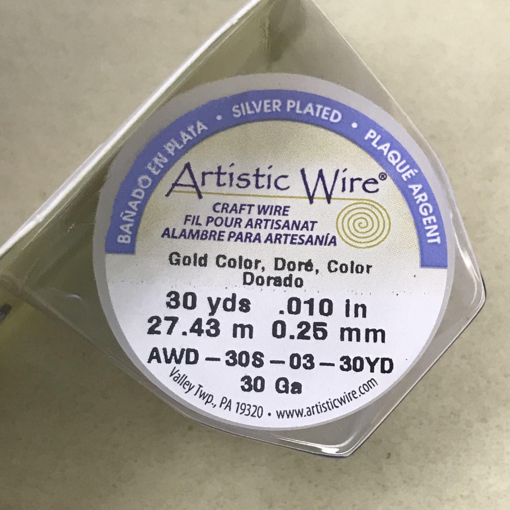 Copper Artistic Wire - Gold Colour - 30 Ga 30 Yd