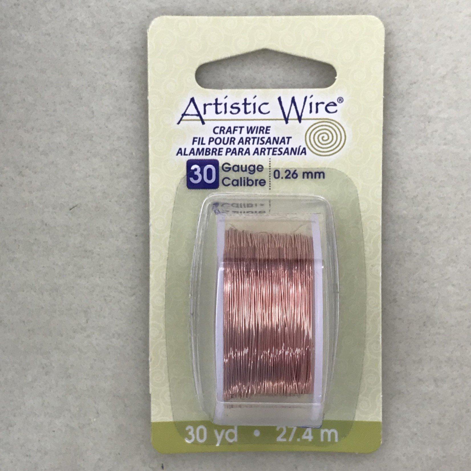 Copper Artistic Wire - Bare Copper - 30 Ga 30 Yd