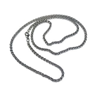 CHAIN Stainless Steel 4mm Wheat 24""