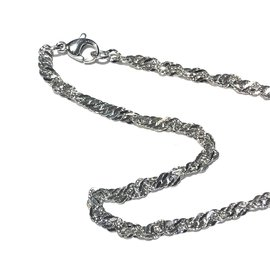 """Stainless Steel Singapore 3.2mm Chain 20"""" Finished"""