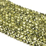 MATUBO Firepolish Metallic Crystal Olive