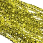 Firepolish Metallic Ice Crystal Citron 4mm