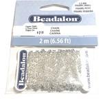 Beadalon Figaro Chain 2.2mm Silver Plated 2m