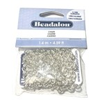 Elongated Chain 5.5mm Silver Plated 1.4m