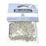 Beadalon Elongated Chain 5.5mm Silver Plated 1.4m