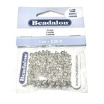 Beadalon Stamped Chain 5.1mm Silver Plated 1m