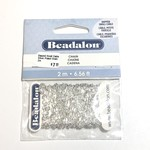 Beadalon Dapped Small Cable Silver Plated Chain 2m