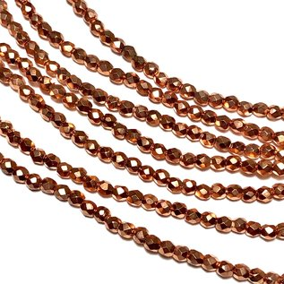 MATUBO Firepolish Copper Penny 3mm