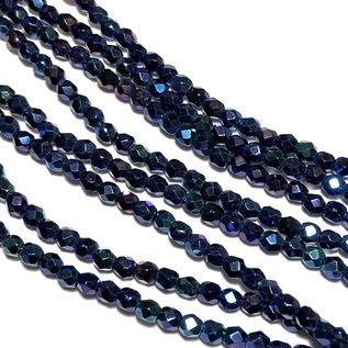MATUBO Firepolish Iris Blue 3mm