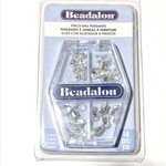 Beadalon Silver Plated Pinch Bail Pendant Variety Pack 18pcs