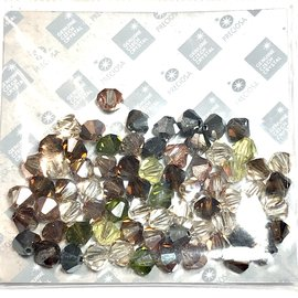 Preciosa Crystal 6mm Bicone MIX Artistic Inspiration 72pcs