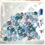 Preciosa Crystal 6mm Bicone MIX Caribbean Blue 72pcs