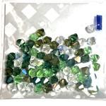 Preciosa Crystal 6mm Bicone MIX Evergreen 72pcs