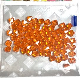 Preciosa Crystal 6mm Bicone Sun 72pcs
