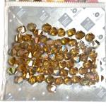 Preciosa Crystal 6mm Bicone Topaz AB 72pcs