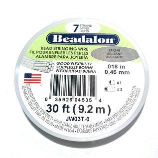 "BEADALON Bead Wire 7 Str .018"" Bright 30'"