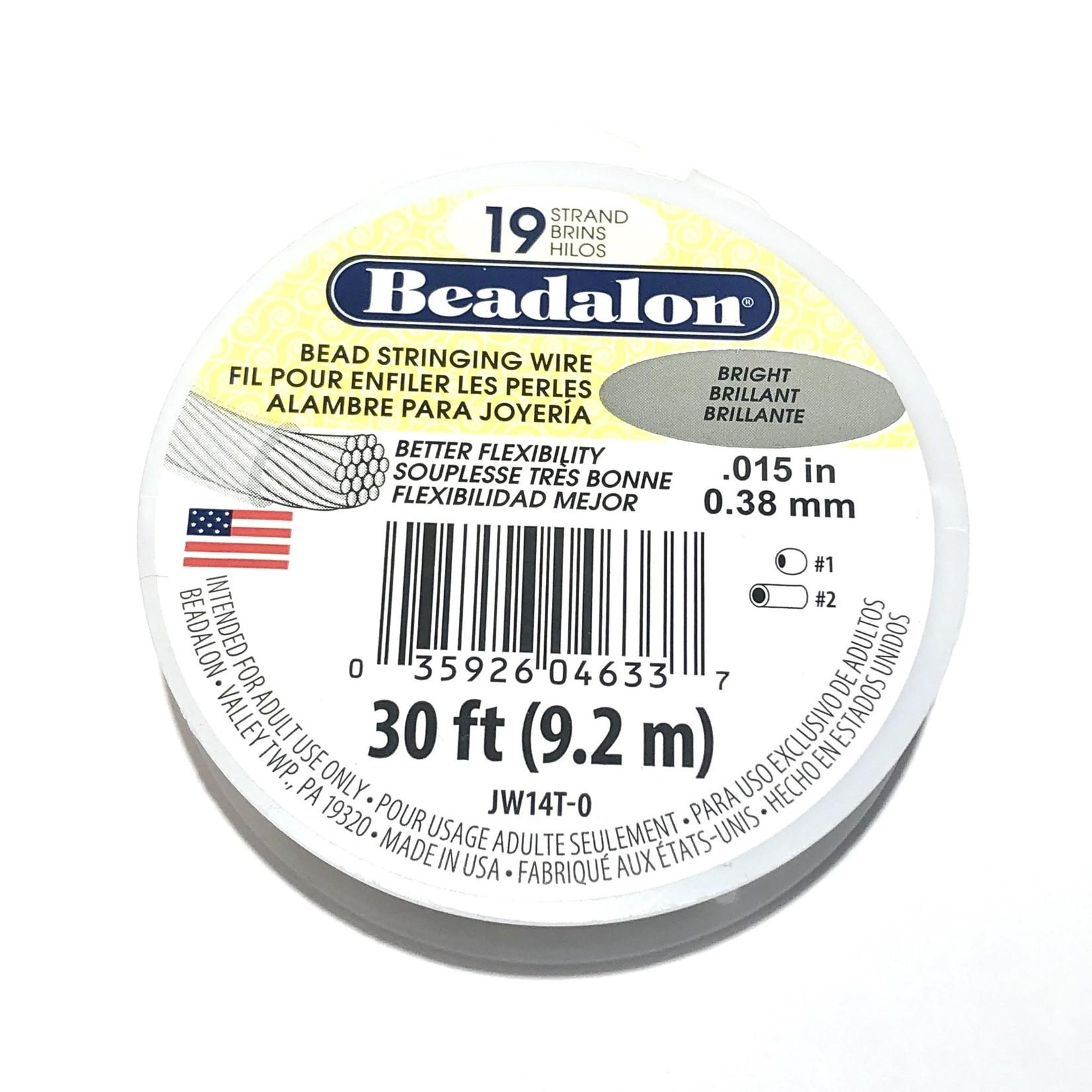 """Beadalon BEADALON Bead Wire 19 Str .015"""" Bright 30'"""