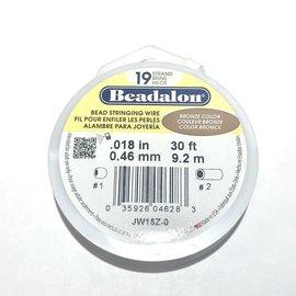 "BEADALON Bead Wire 19 Str .018"" Bronze 30'"