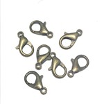 Antique Bronze Plated 14mm Lobster Clasp 15pcs