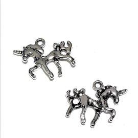 Tibetan Silver Alloy 17mm Unicorn Charm 10pcs