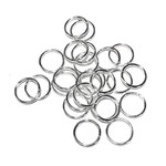 Silver Plated Jump Rings 10mm ID 40pcs