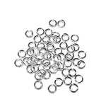 Silver Plated Jump Rings 4mm OD 125pcs