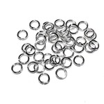 Silver Plated Jump Rings 6mm OD 100pcs