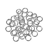 Silver Plated Jump Rings 8mm OD 60pcs