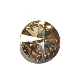 SWAROVSKI Rivoli Golden Shadow 18mm 1pc
