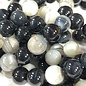 Banded AGATE Natural Black 8mm Round