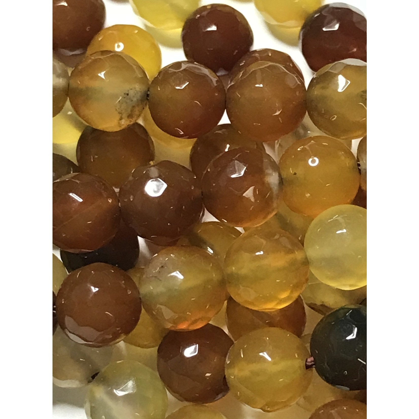 AGATE Spring Colours - Toffee 8mm Faceted